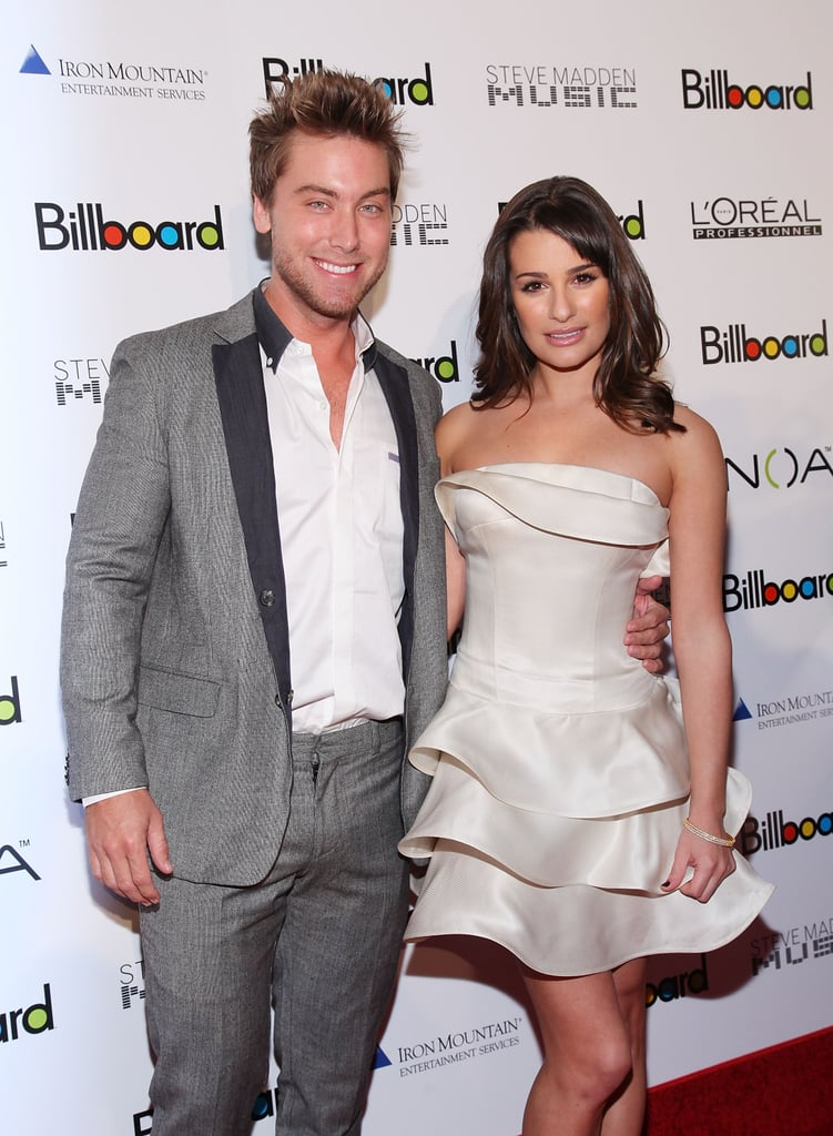 Lance Bass had Lea Michele on his arm in 2010.