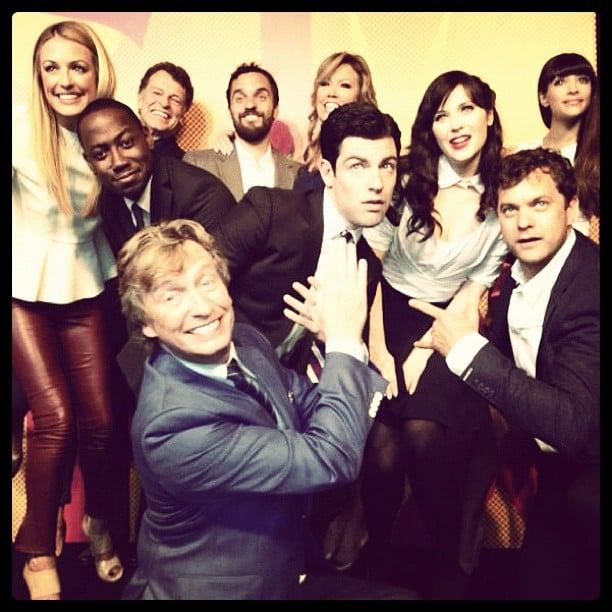 Zooey Deschanel and her New Girl co-stars had a blast at the Fox Upfronts with other network stars in May.  Source: Instagram user zooeydeschanel