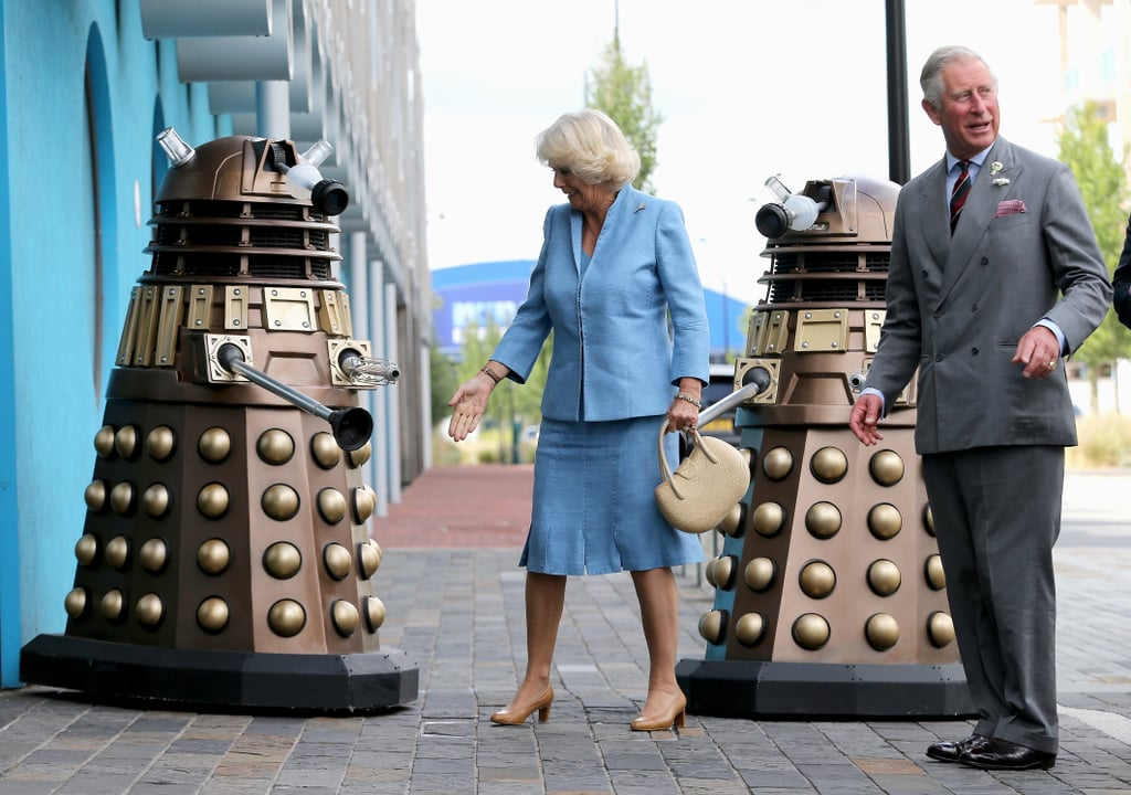 Prince Charles and the Duchess of Cornwall took a visit from Daleks in stride.