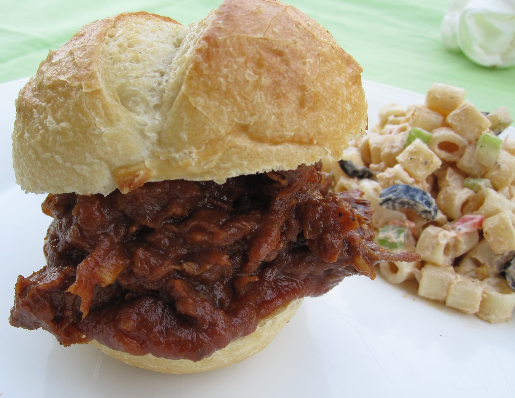 Barbecued Brisket Sandwich