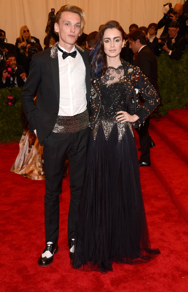 Jamie Campbell Bower and Lily Collins took the theme to heart.