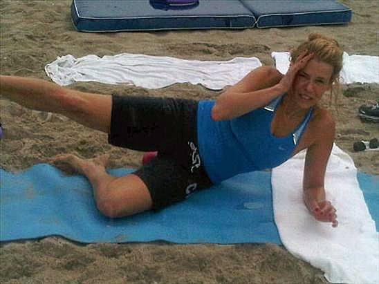 Picture of Chelsea Handler Doing Pilates on Twitter