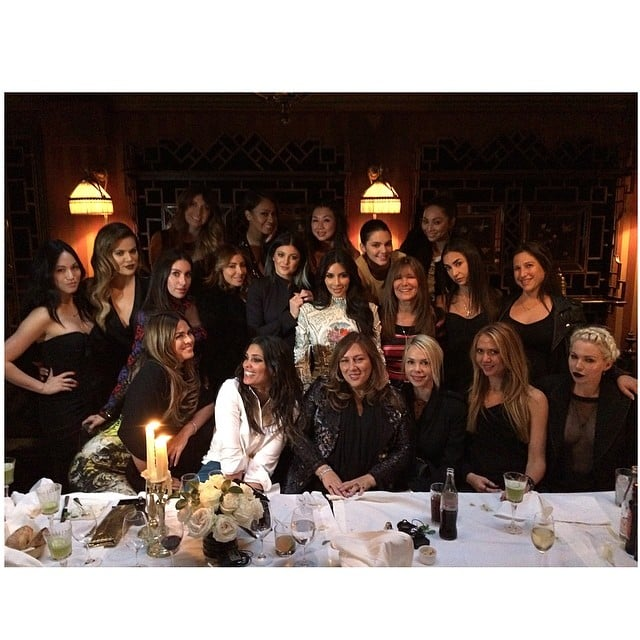 "Kim had a ""last supper"" with her girlfriends on Thursday. Source: Instagram user kimkardashian"