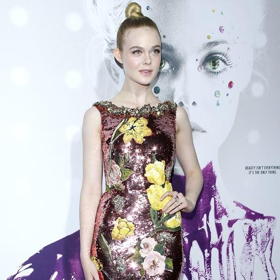 Elle Fanning Dolce and Gabbana Dress at Neon Demon Premiere