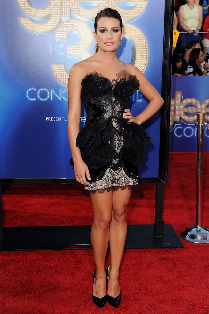 For the LA premiere of Glee: The 3D Concert Movie in 2011, Lea wowed in a frothy Marchesa confection.