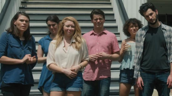 EXCLUSIVE: Cobie Smulders' Friends Scheme a Way to Get Her Divorced in 'The Intervention' Clip