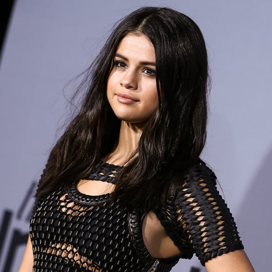 Selena Gomez Wearing Mesh Top at the InStyle Awards