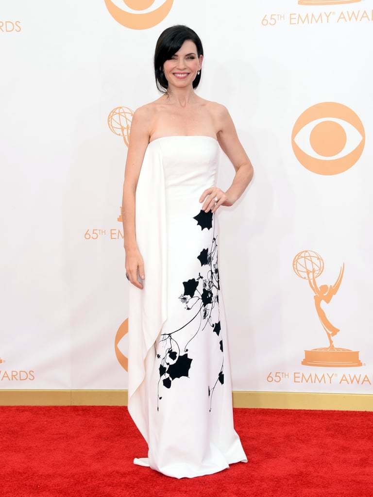 Julianna Margulies on the Emmys red carpet.