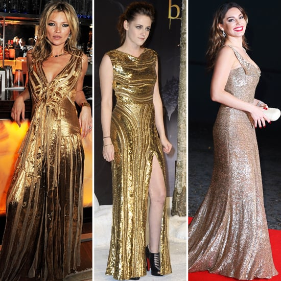 Gold Gowns for Holiday 2012