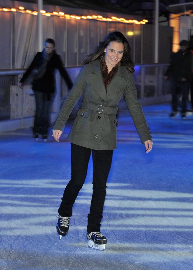 She displayed her ice skating skills last November.