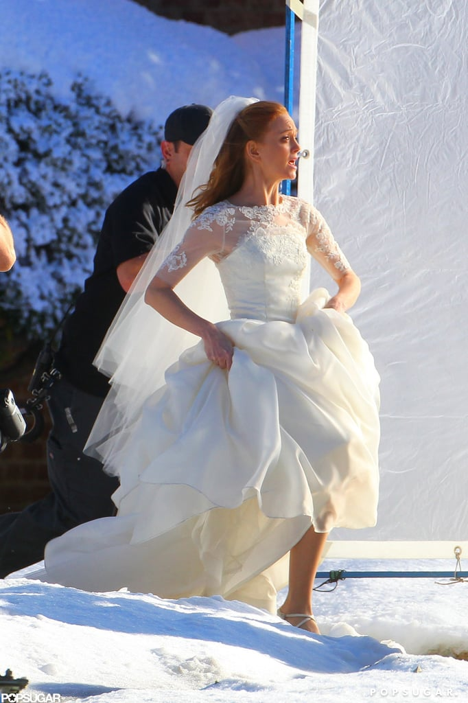 Jayma Mays was reportedly filming a scene for the upcoming Valentine's Day episode.