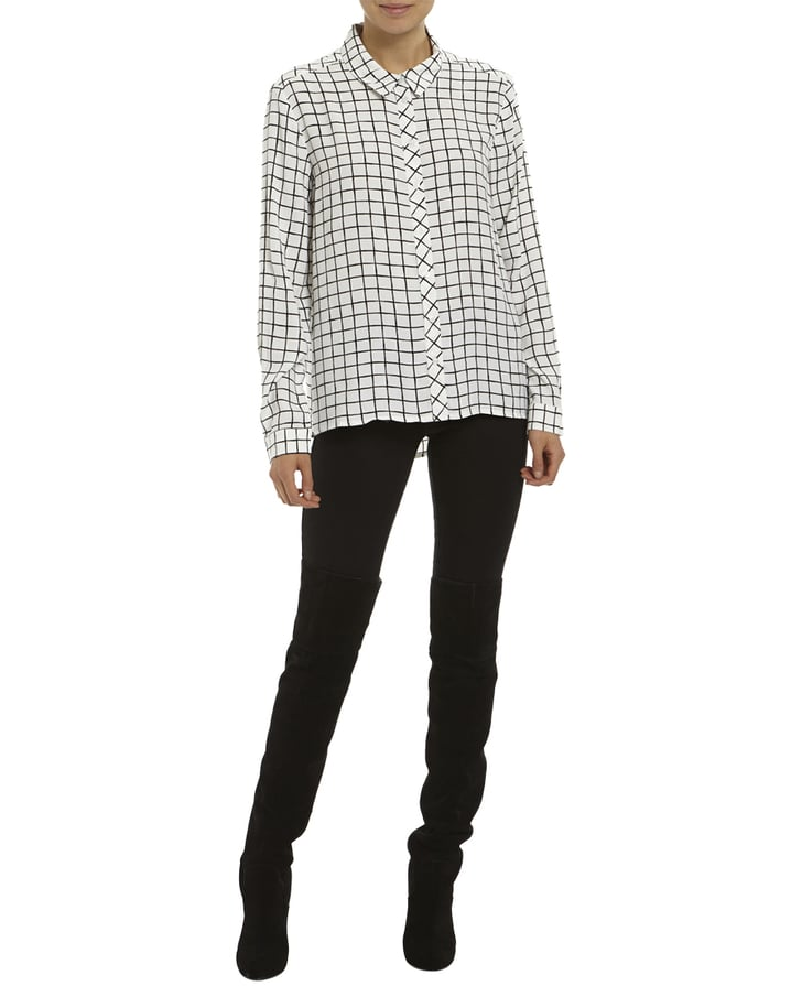 Grid Shirt Update Your Workwear Wardrobe For Winter With These Style Steals Popsugar