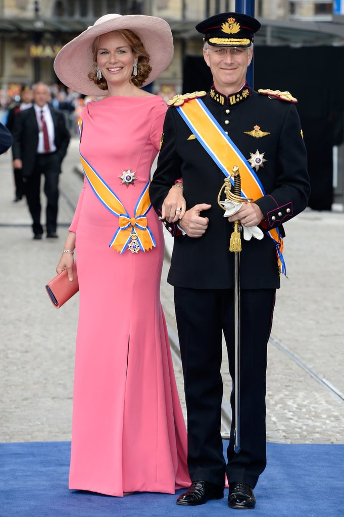 Princess Mathilde and Prince Philippe of Belgium attended the event.