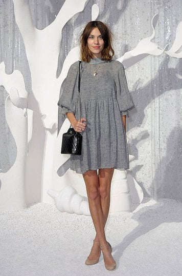 Working the school-girl thing at Chanel's SS '12 show in Paris.