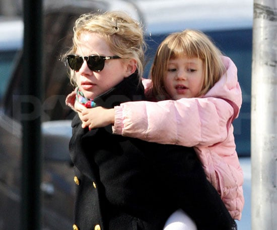 Slide Photo of Michelle Williams and Matilda Ledger in Brooklyn