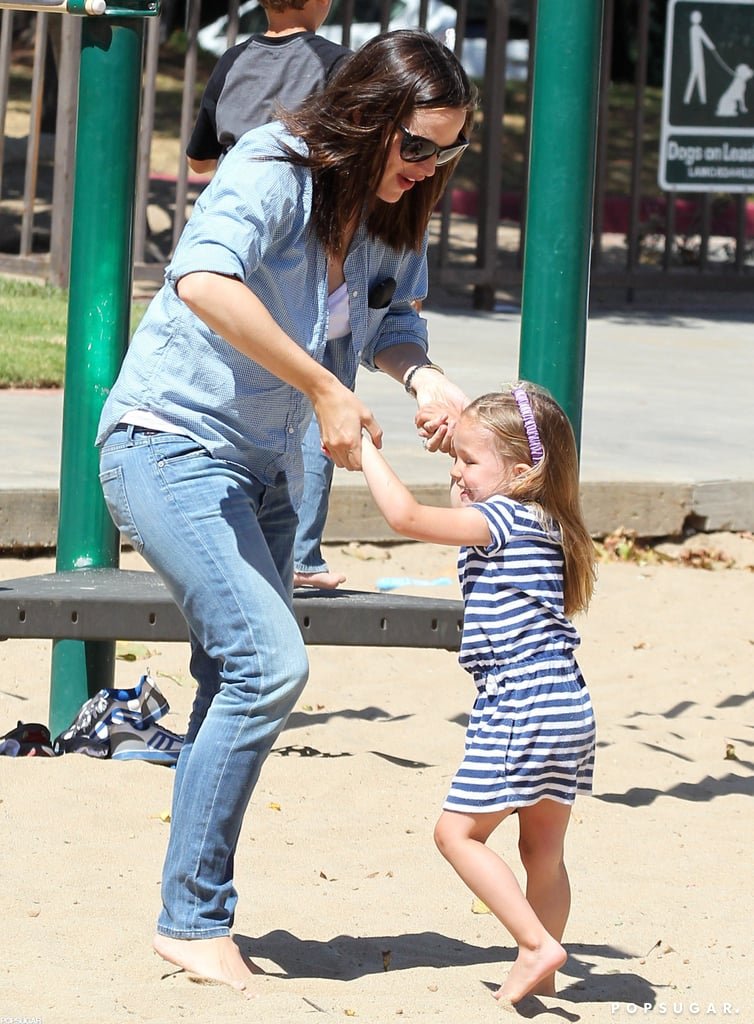 Jennifer Garner and Seraphina Affleck spent a fun day together at an LA park in July.