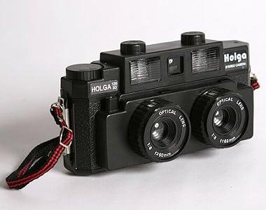 Holga 120-3D Stereo Camera is a 3D Camera