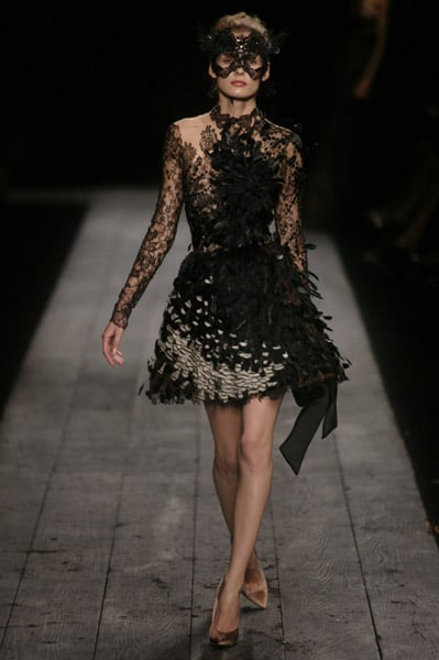"Valentino Goes ""Radical"" in Black for Fall 2009 Couture"