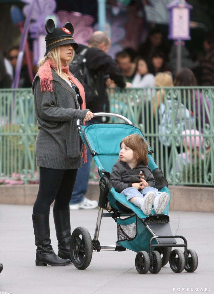 Christina Aguilera sported mouse ears during a January 2011 trip to Disneyland with Max.