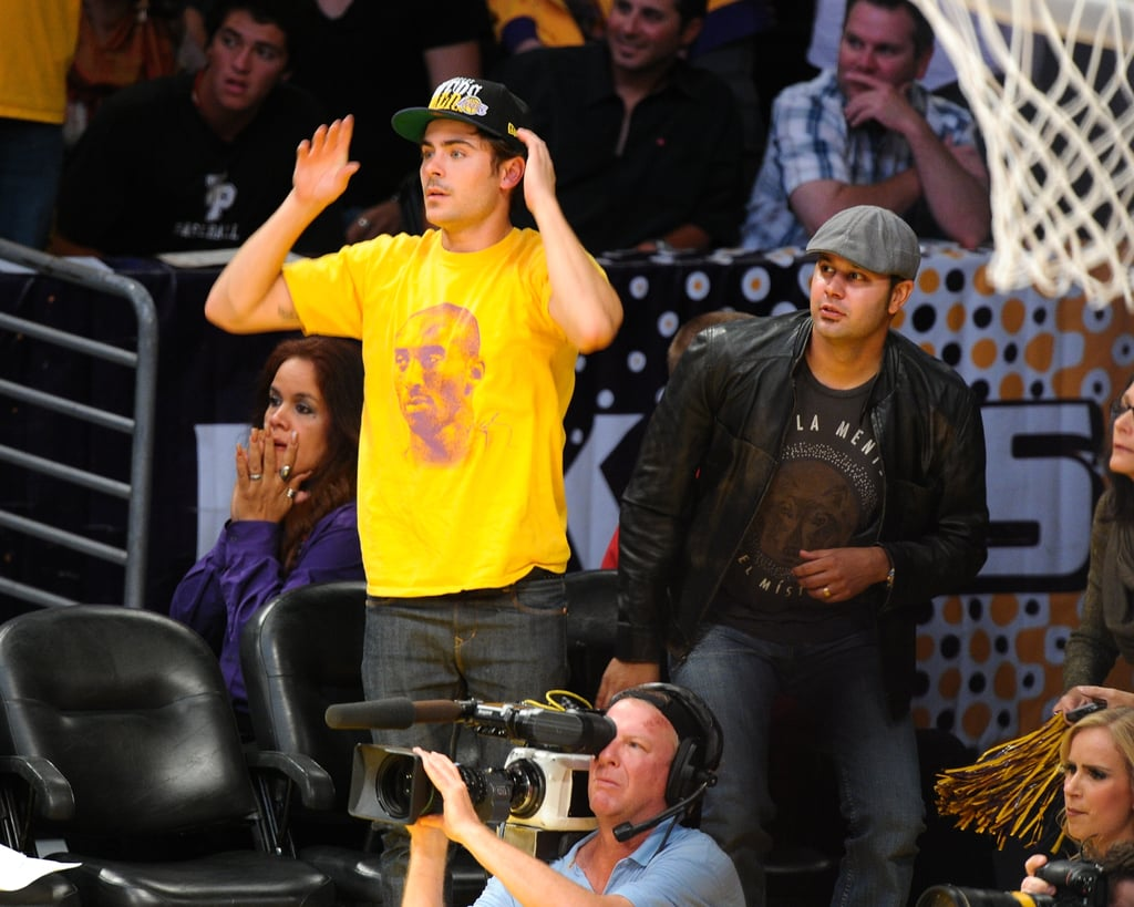 Justin and Jessica Get Loved Up at the Lakers Near Kim and Kanye
