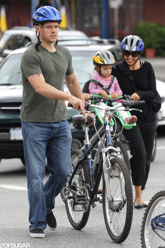 The Damons went for a bike ride around Vancouver in July 2011.