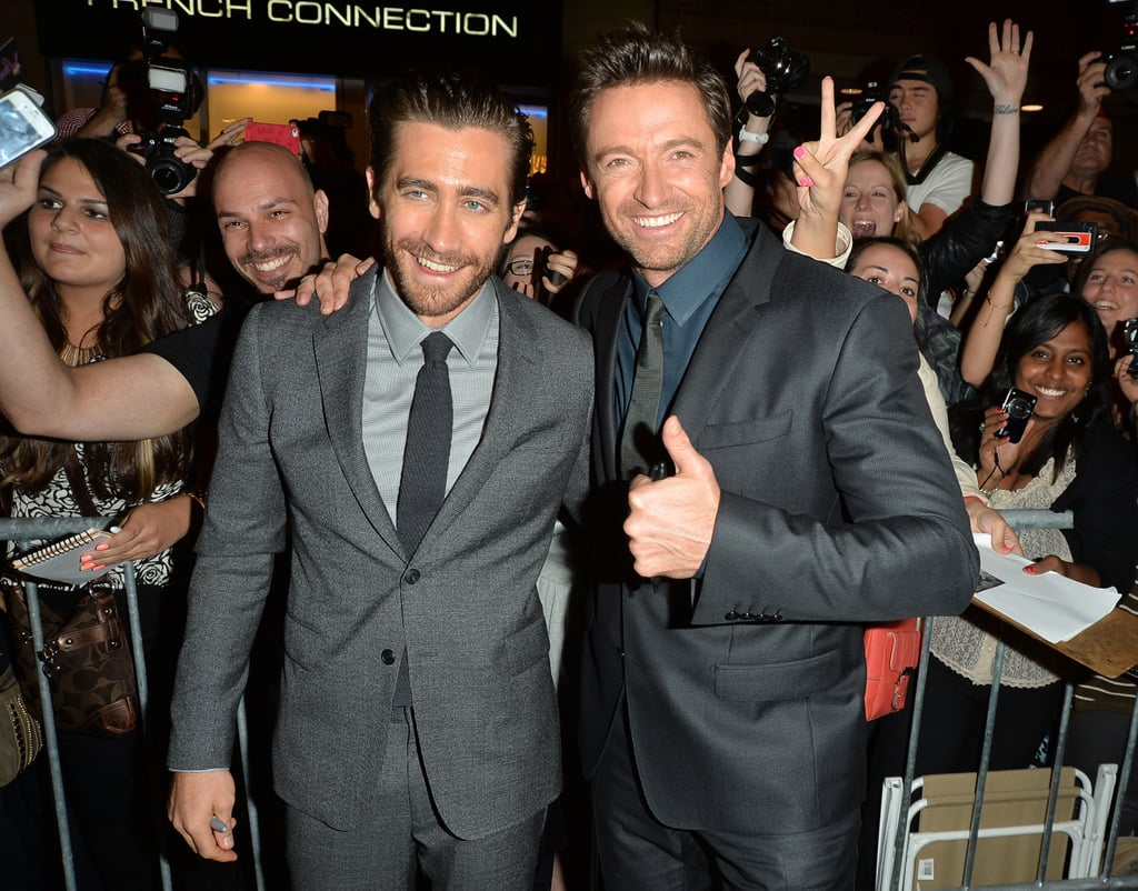 Hugh Jackman and Jake Gyllenhaal teamed up for photos.
