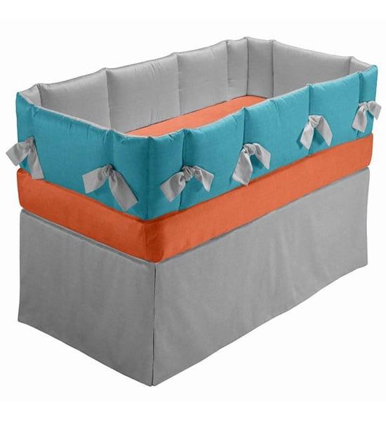 Contempo Baby Gray Linen Bedding