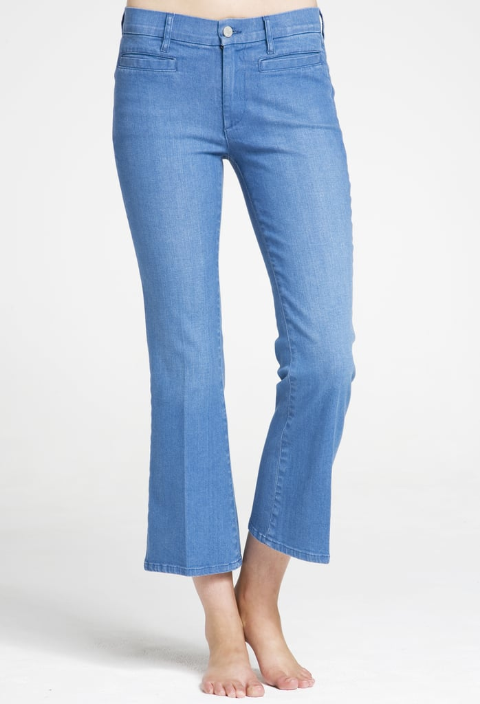 """MiH Monaco Cropped Flare Jeans ($198) Denim expert soundoff: """"There are so many new silhouettes available each season, but we're really loving the cropped kick flare for Summer. It's the perfect update to your ankle-length jean, but with a definite retro-chic vibe. This style can be worn with flats, sandals, and especially a sexy heel. The Monaco is ideal for petite girls who don't want to lose that amazing flare leg opening."""" — Chloe Lonsdale, MiH Jeans founder and creative director"""