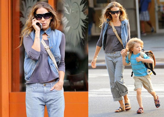 """Photos of Sarah Jessica Parker Wearing """"Barack and Roll"""" Vest"""