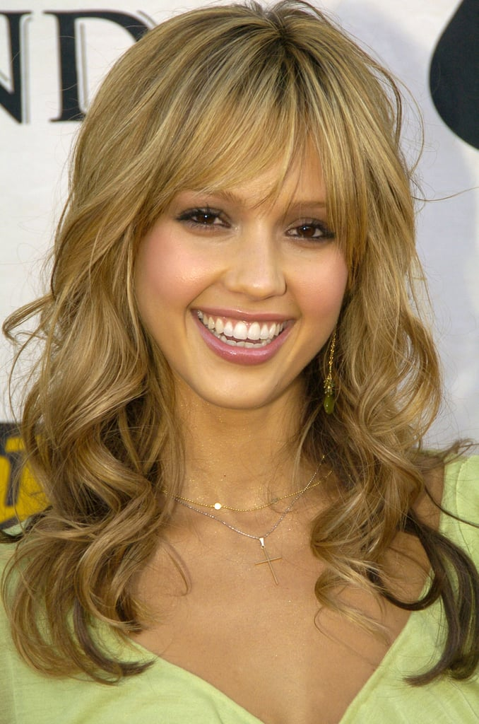 Blunt bangs and blond hair made up Jessica's glowing look at the 2004 VH1 Divas event.