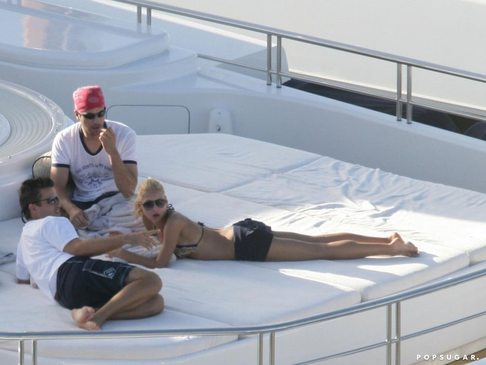 In December 2005, Anna Kournikova lounged on a yacht during a St. Barts getaway.