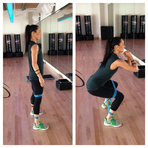 2. Lateral Squat with Band