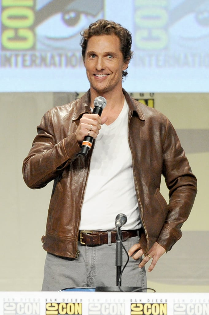 Matthew McConaughey took the stage at his first-ever Comic-Con in San Diego on Thursday.