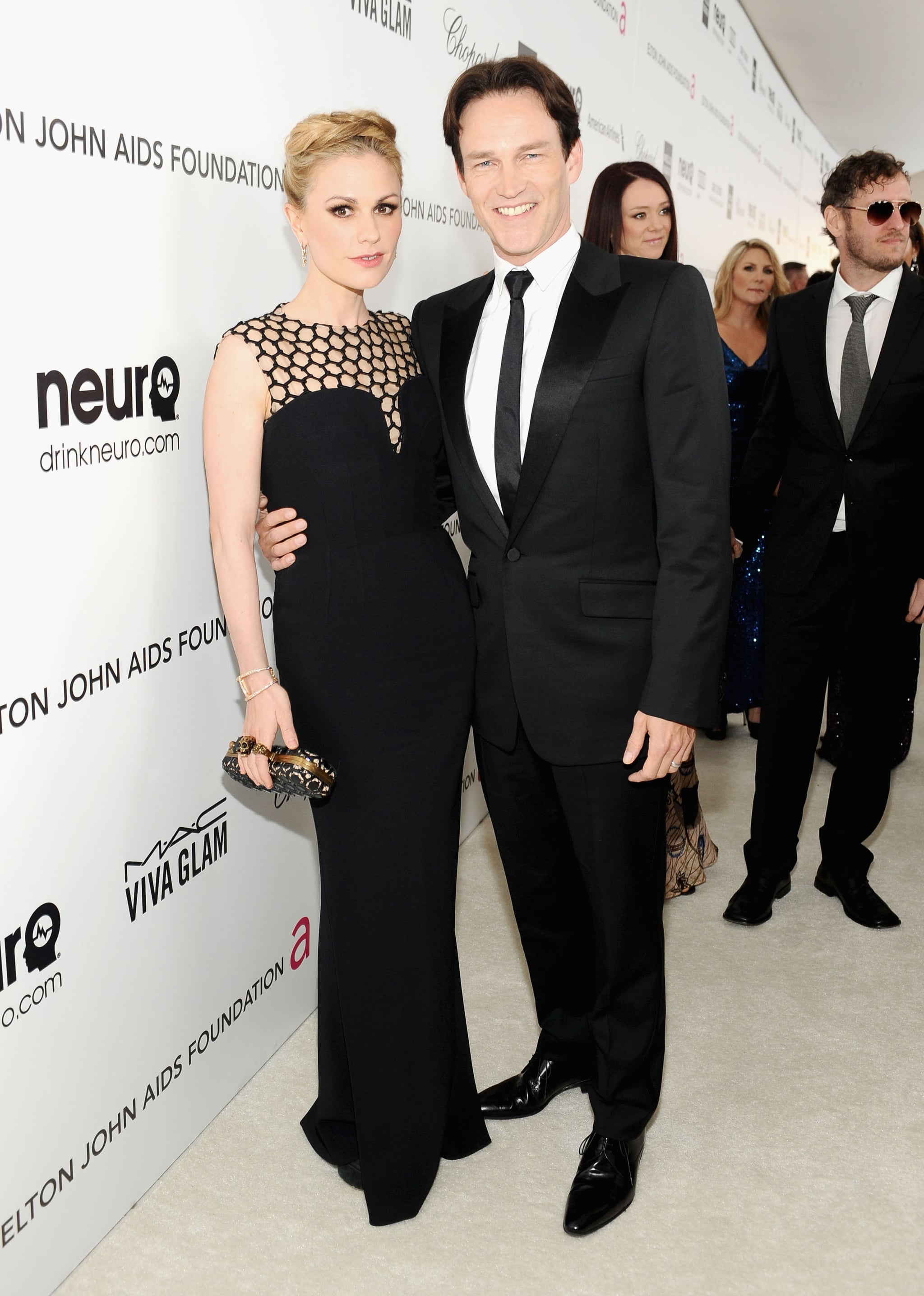 Anna Paquin and Stephen Moyer arrived at the Elton John Oscar party together.