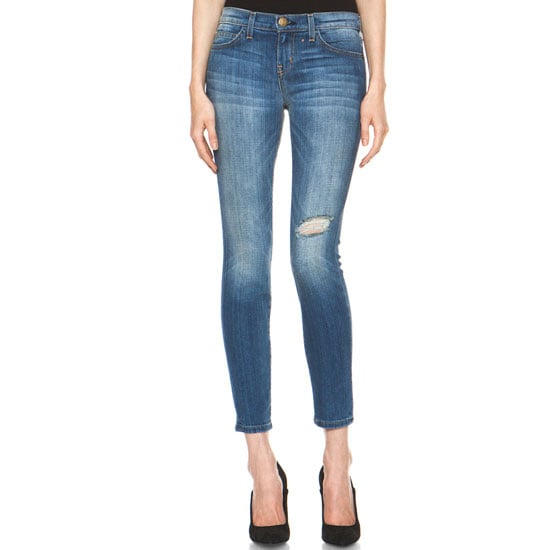 I love the fact the blue denim is back, and in all honesty, guys are pretty simple —a pair of skin-tight jeans and a nice top and heels are sometimes all they need to be majorly impressed. I'd wear these skinnies mixed with a white top, neutral heels and motorcycle jacket. Perfect for a cheeky cocktail at our favourite bar.— Marisa, publisher Jeans, approx $220, Current/Elliott at Forward by Elyse Walker