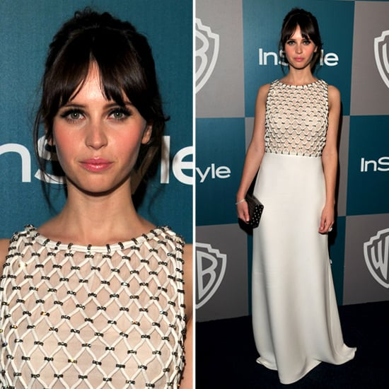 Felicity Jones at InStyle Golden Globes Afterparty 2012
