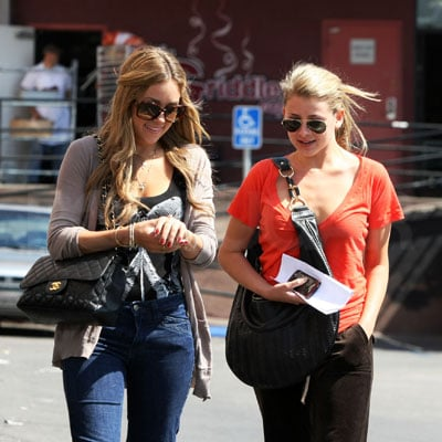 Lo Bosworth and Lauren Conrad Go Out to Lunch in LA