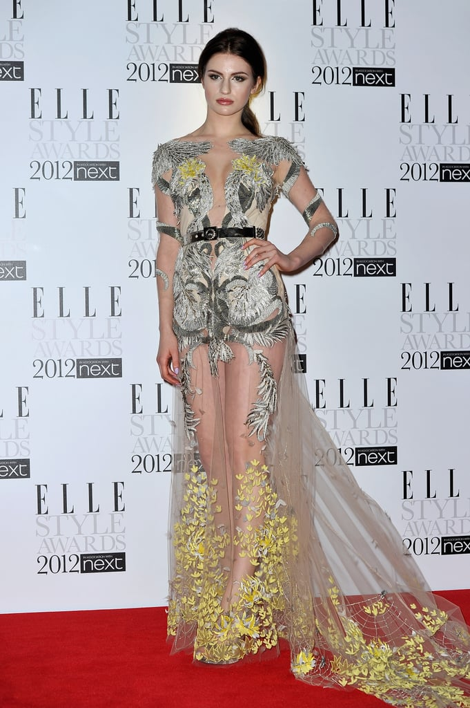 Tali Lennox opted for bold print on her see-through sheer confection.