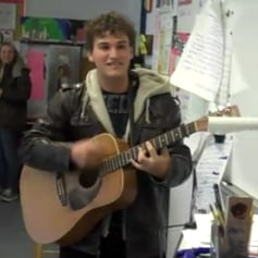 High Schooler Asks Girl to Prom by Singing Song in Front of Class