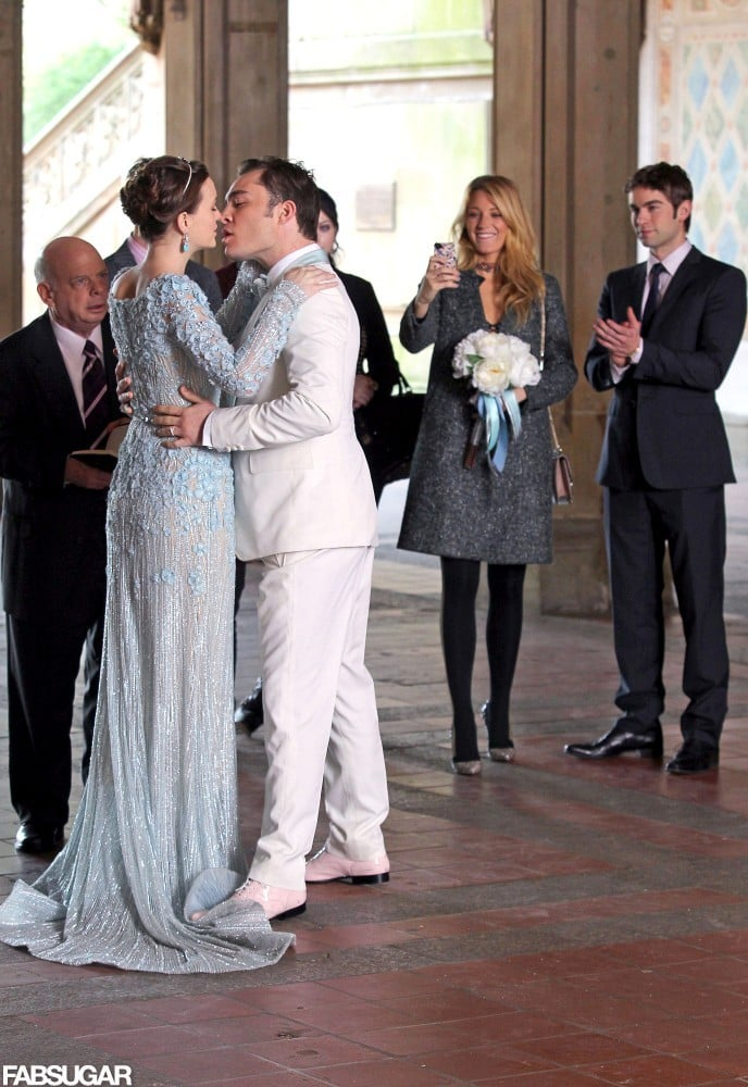Spotted: Blair Waldorf Is a Blushing Bride — Take Two — in Elie Saab