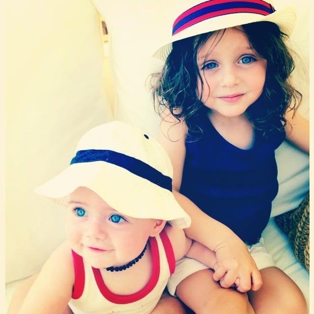 Rachel Zoe shared a snap of her boys, Skyler and Kaius, in festive outfits. Source: Instagram user rachelzoe