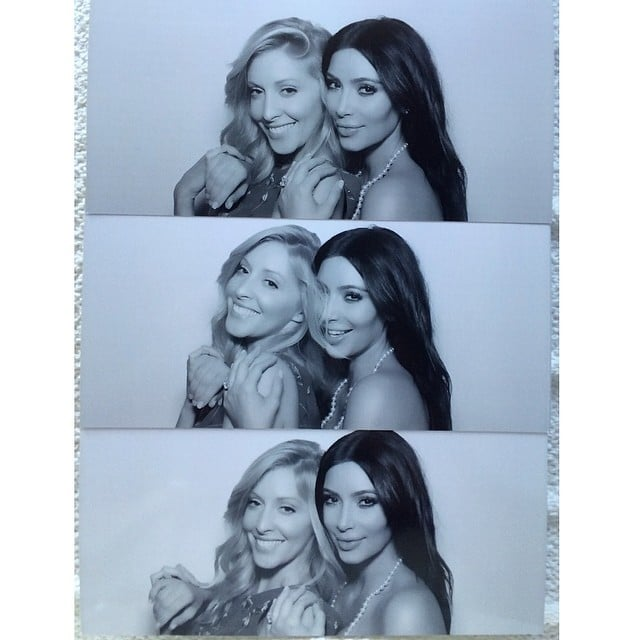 """""""Love you @leah_jenner,"""" Kim wrote in the caption for a collage with her sister-in-law, Leah Felder, who is married to Brandon Jenner.  Source: Instagram user kimkardashian"""