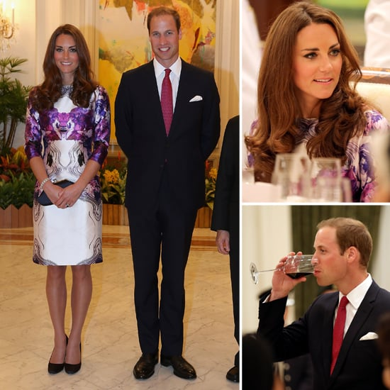 Prince William and Kate Middleton Wrap Up Day 1 at an Official Dinner