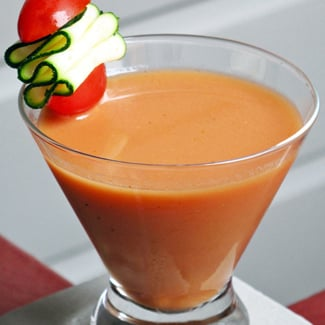 All Natural Gazpacho Bloody Mary Cocktail Recipe
