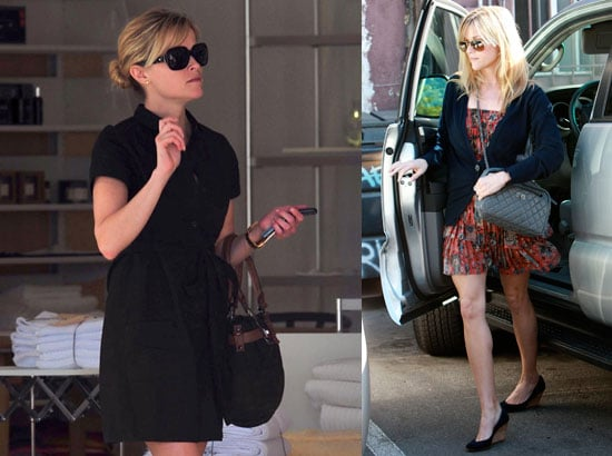 Photos of Reese Witherspoon Wearing a Cute Black Dress Shopping in LA
