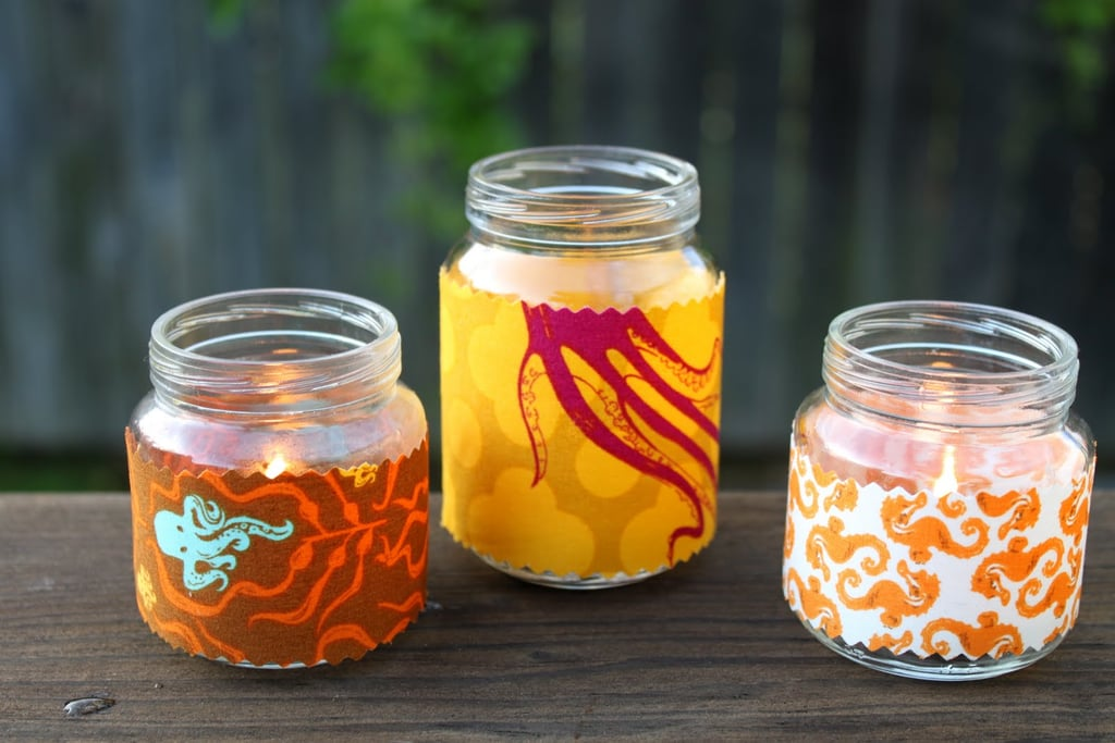 Upcycle Your Baby Food Jars Into Fabric Tea Lights