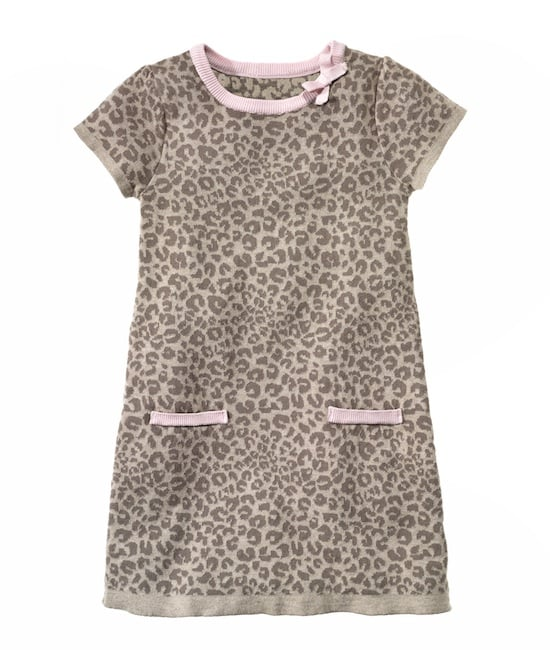 Lovely in leopard, this comfy knit dress is a feminine, light take on the animal-print trend.