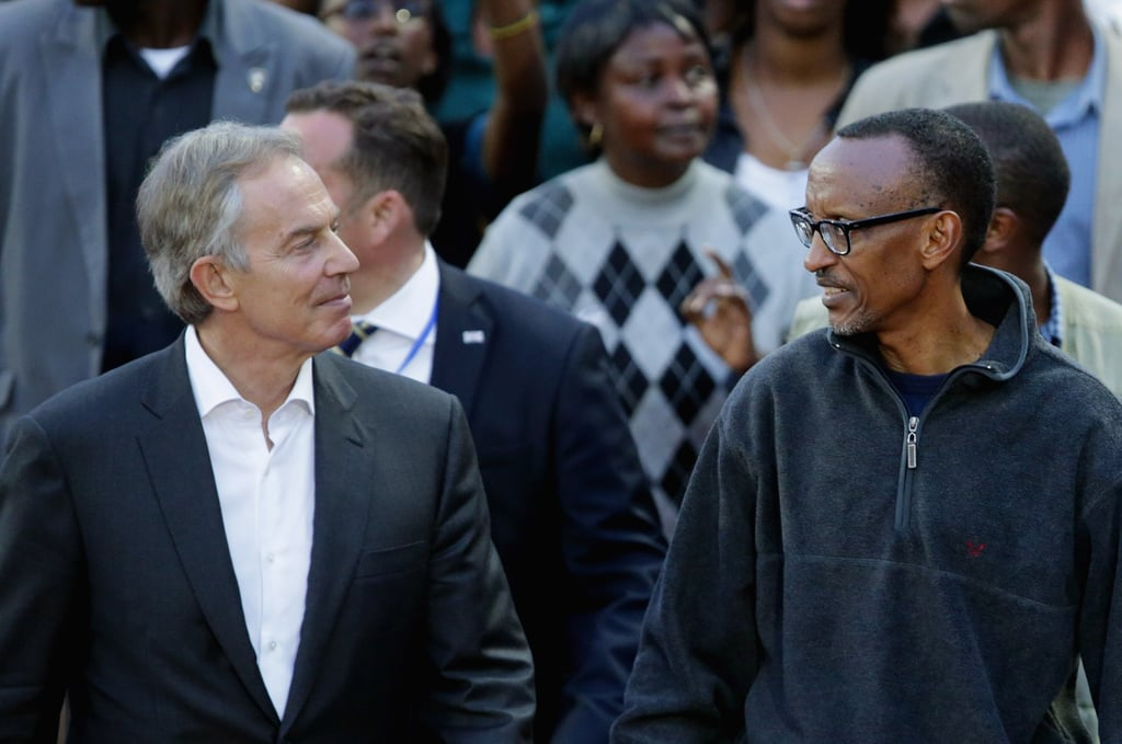 Former British Prime Minister Tony Blair joined Rwandan President Paul Kagame on the Walk to Remember, which ended at Amahoro Stadium, where Kagame spoke to thousands of Rwandans who gathered to honor the fallen.