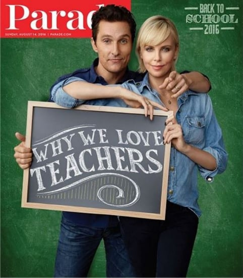 Charlize Theron covers new issue of Parade with Matthew McConaughey and gives love to both The Rock and Vin Diesel on Instagram