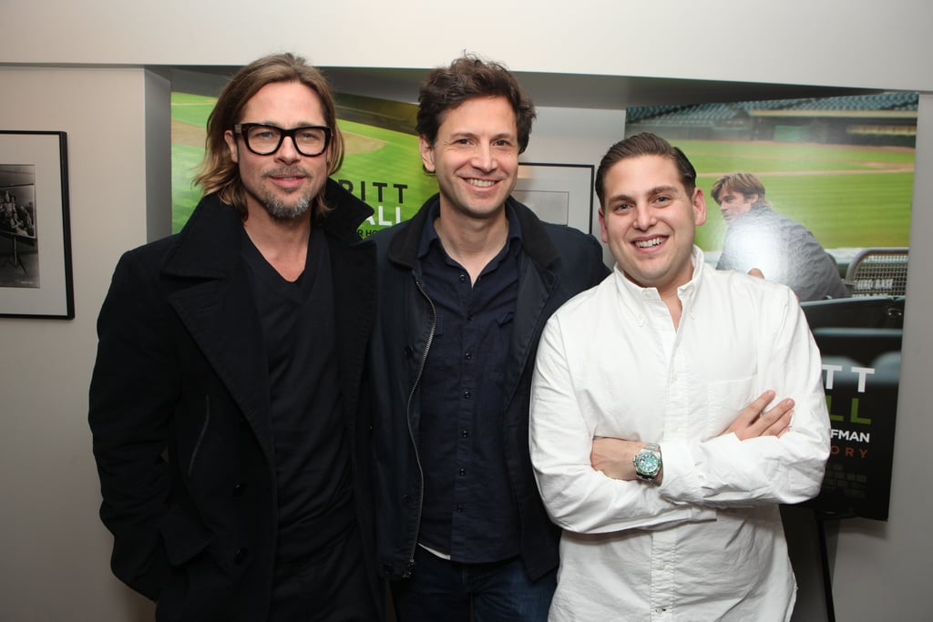 Brad Pitt and Jonah Hill hung out with their Moneyball director, Bennett Miller.
